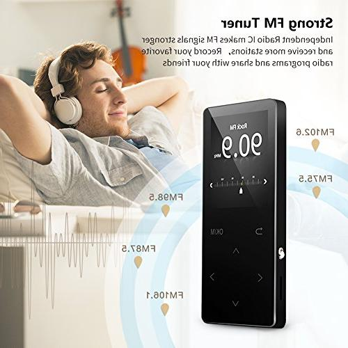 MP3 Player 16GB FM metal, screen, Alarm quality black