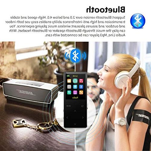 MP3 16GB FM metal, 1.8-inch quality headphones, black