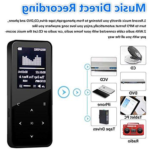 MP3 Player,MP3 with Bluetooth,8GB Music FM Radio,Pedometer for Walking,Build in Recorder,Video Viewer,E-Book,Touch Button and Armband,Support up to