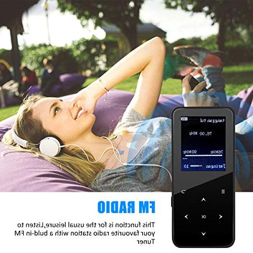 MP3 Player,MP3 Bluetooth,8GB Music FM in Viewer,E-Book,Touch Button and up to