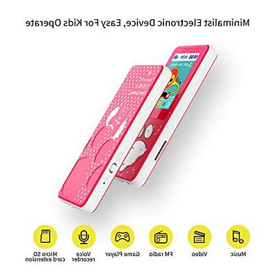 Wiwoo MP3 Player Kids,Portable 8GB Music with FM Up to