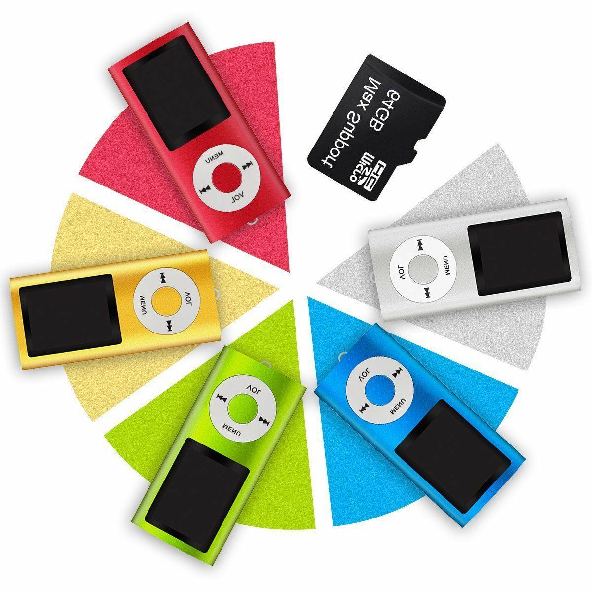 Top MP3 64GB Max LCD Video Radio FM Voice Record Screen