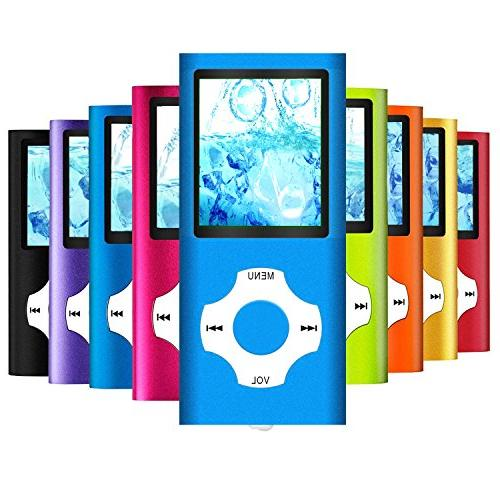 MP3 Player/MP4 Player, MP3 Music with 16GB SD card Slim Classic Digital LCD 1.82'' Screen Port with