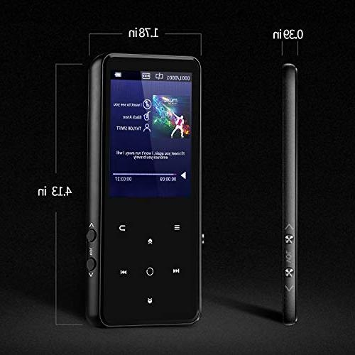MP3 Player with 2.4'' Screen, Music Player with Lossless Sound Quality,FM Come a Wired Headphone