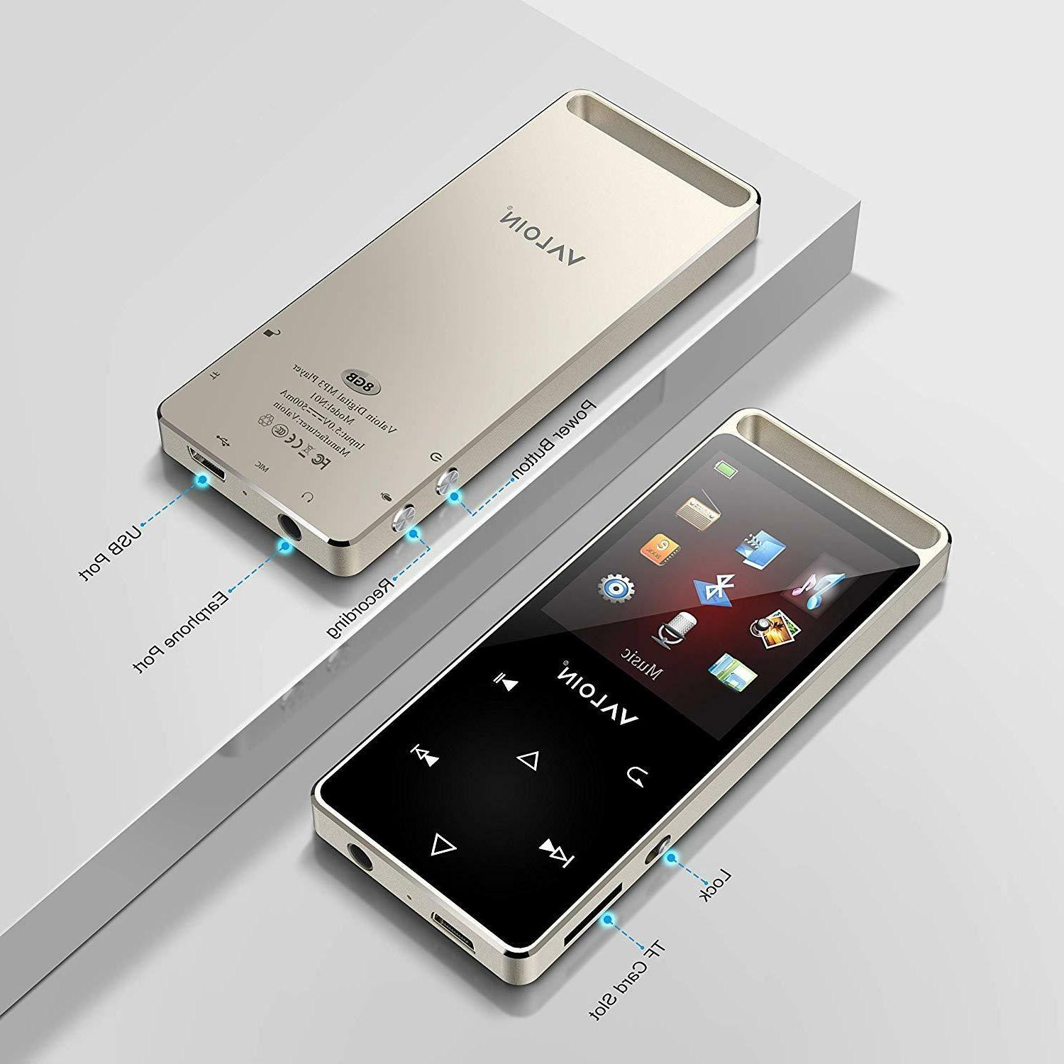 MP3 Player Portable Bluetooth Metal Playback Voice