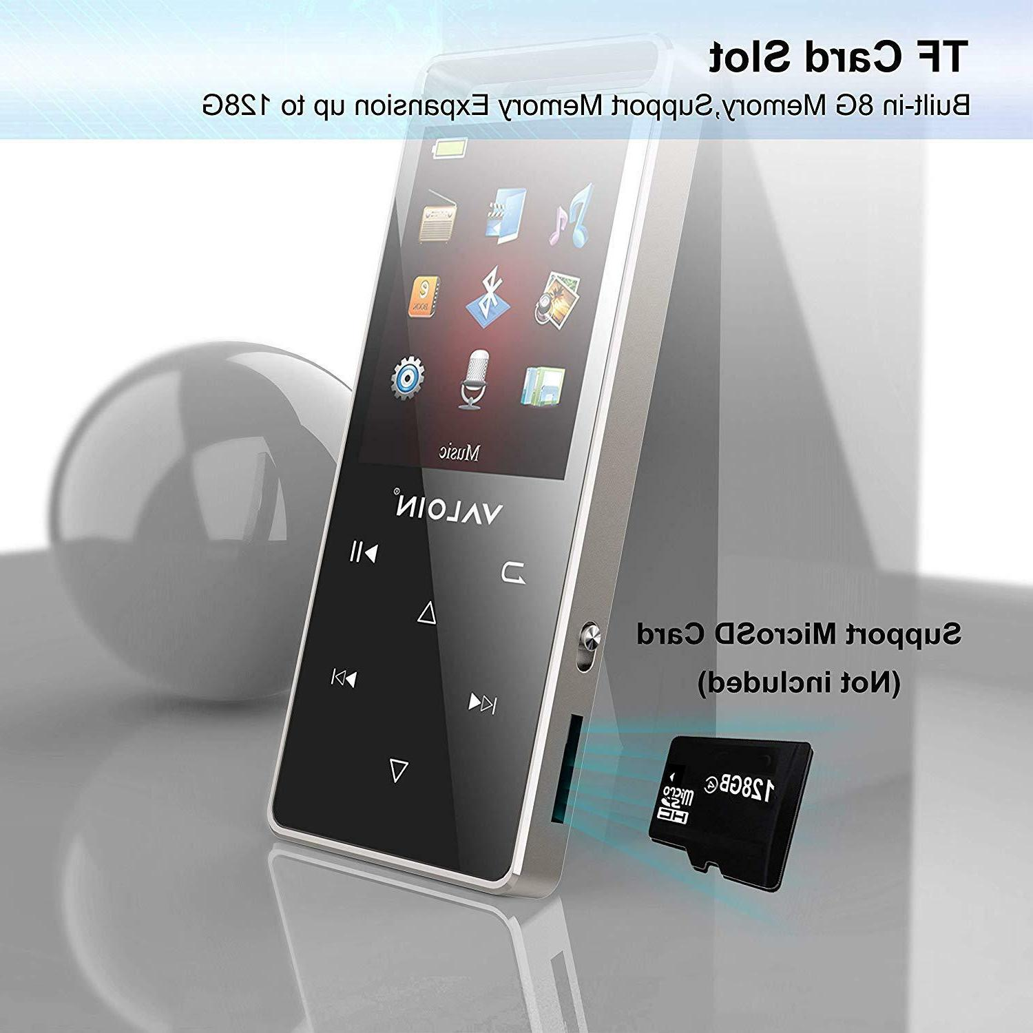 MP3 Player Portable Bluetooth Metal Playback Time Voice