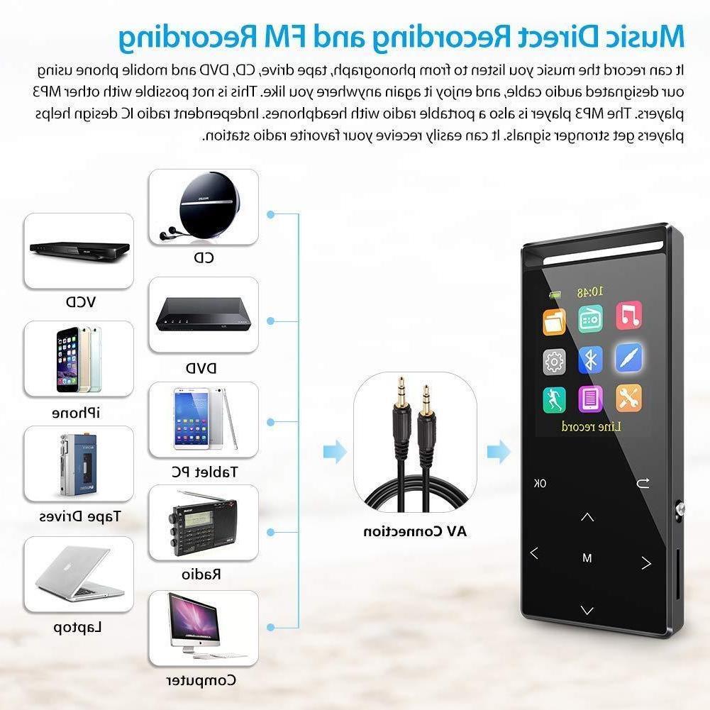 Grtdhx Player Bluetooth, 16GB Digital Music Player with FM Rad