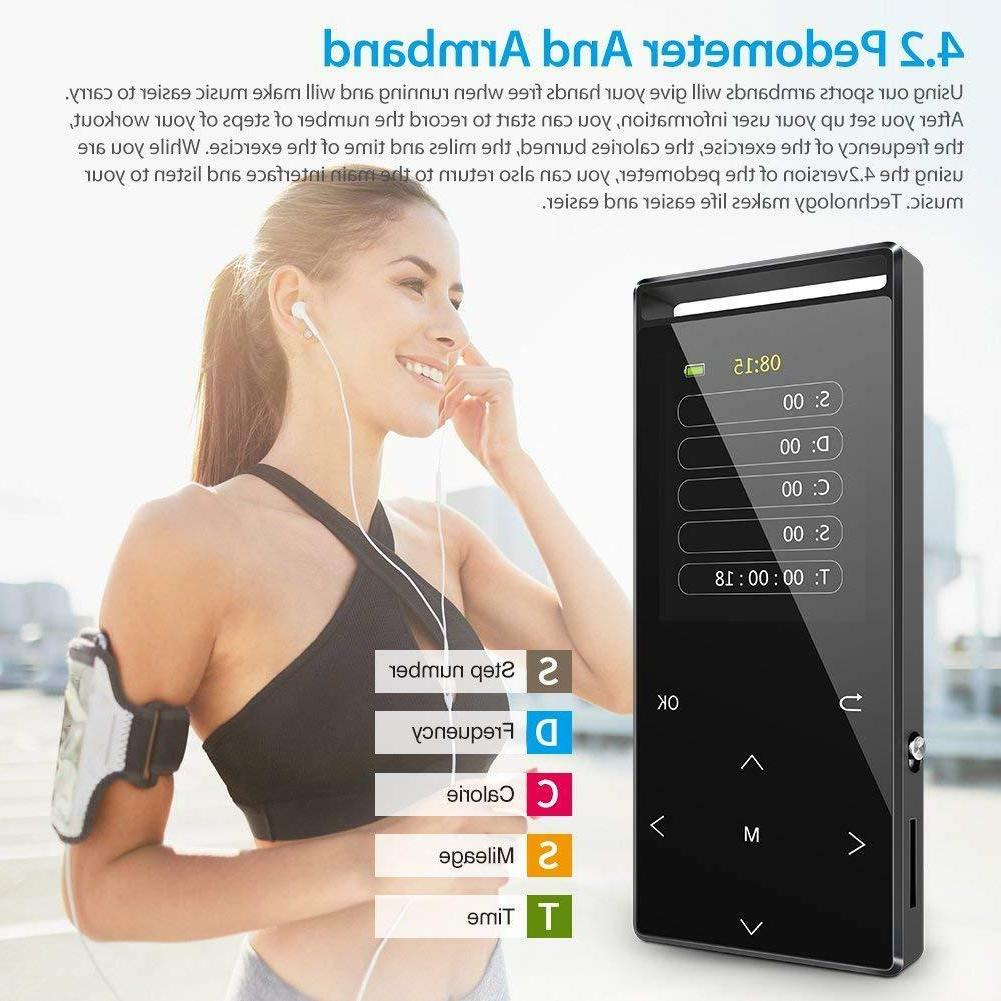 Grtdhx with Bluetooth, Digital Music Player with FM Rad