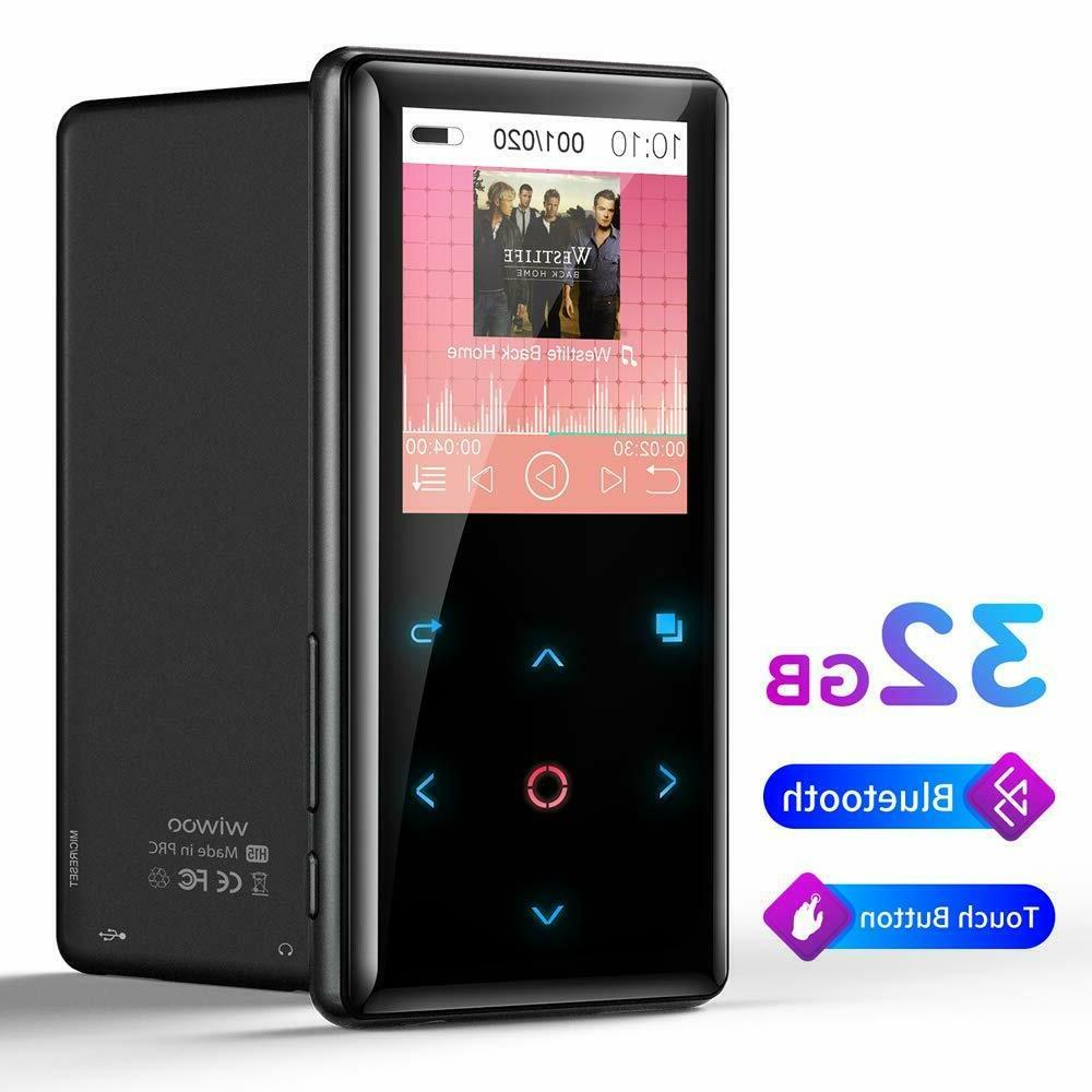 MP3 with Bluetooth, Wiwoo Music Player with Butto