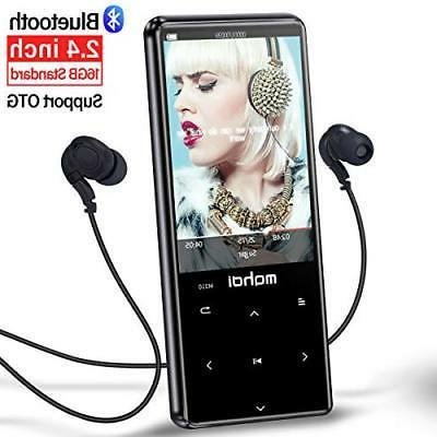 MYMAHDI MP3 Player with Bluetooth 4.1 Touch Buttons 2.4 inch