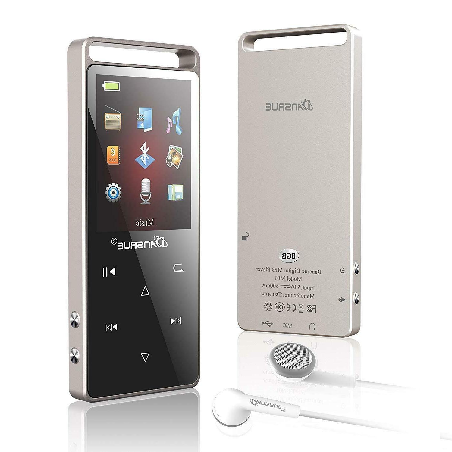 mp3 player with bluetooth 8g hi fi