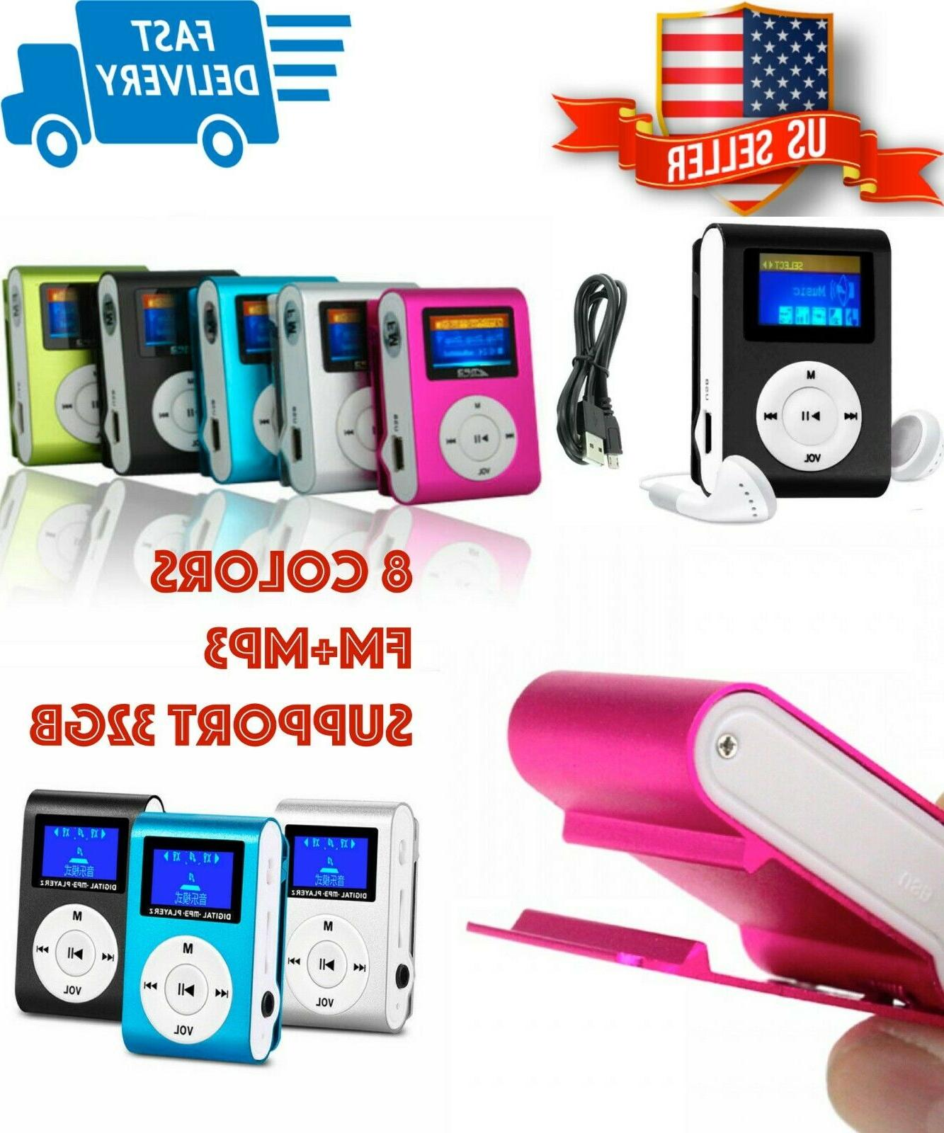 mp3 player with digital lcd screen mini