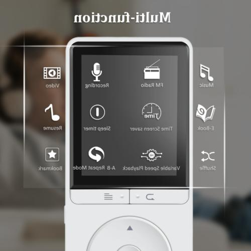 AGPtEK 16 Mp3 Player Voice Playback White