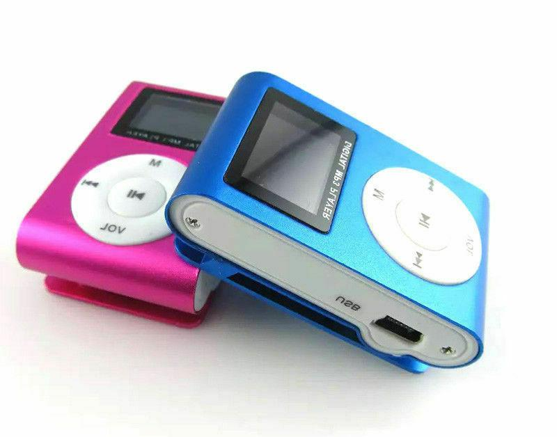 MP3 Player With LCD Screen FM Radio Small Mini Clip Micro