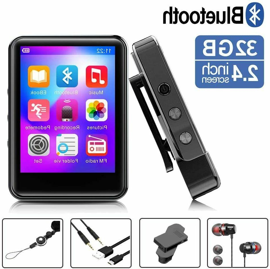 mp3player mp3 player with bluetooth 32gb portable