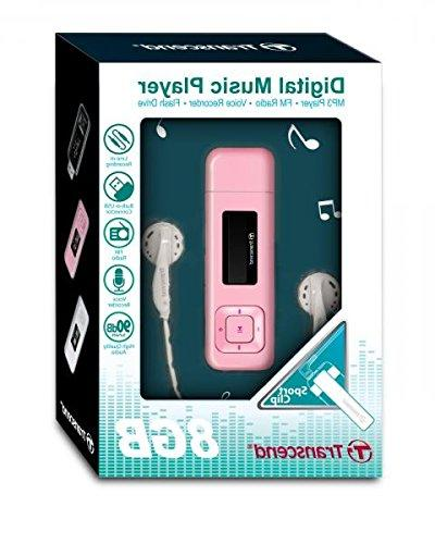 8GB Player and Radio MP330 Pink model TS8GMP330P