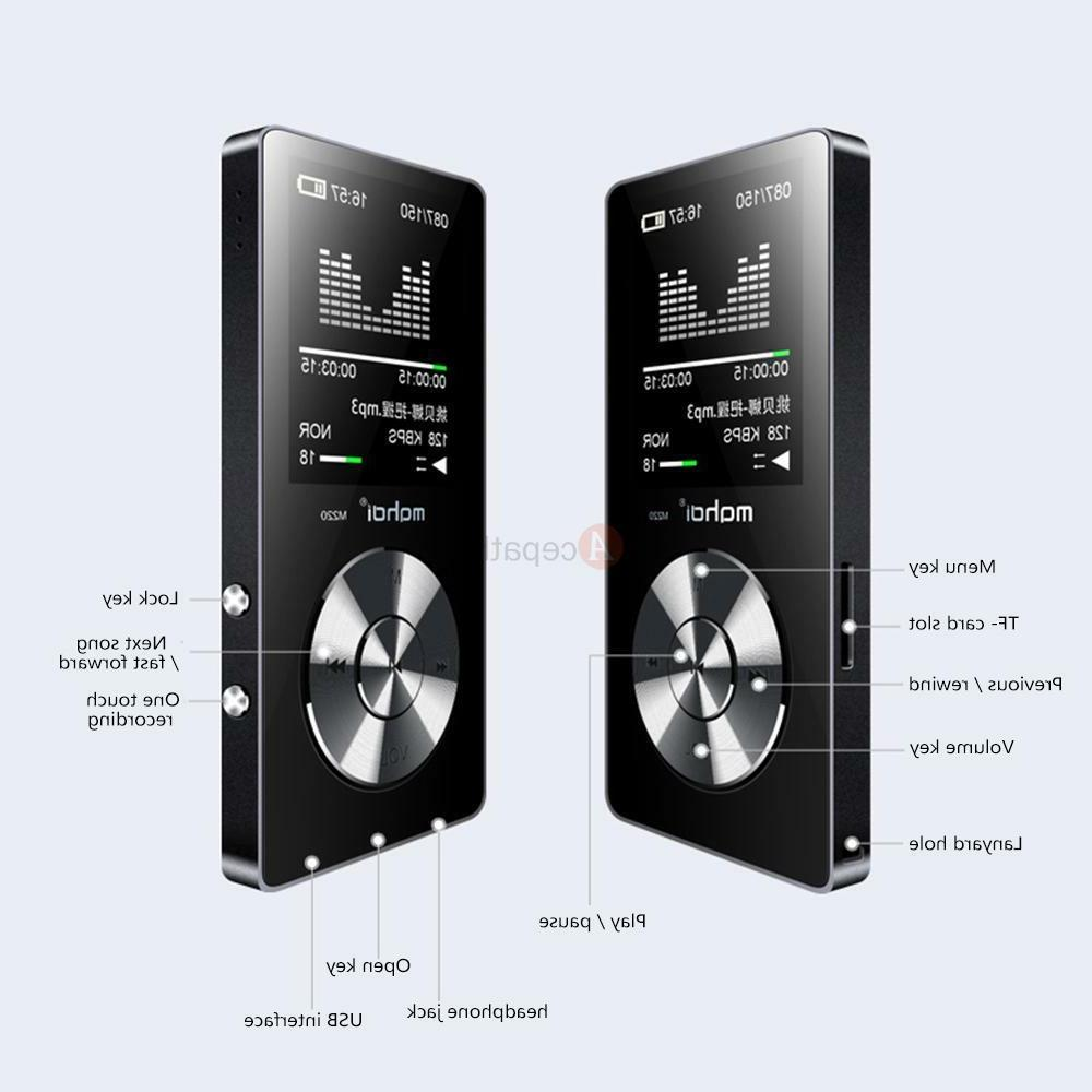 MYMAHDI 8GB Portable Lossless MP3 Music Hi-Fi Player Expanda