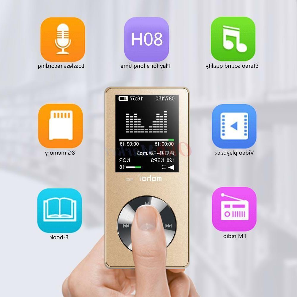 MYMAHDI 8GB Portable MP3 Music Hi-fi Player MIC Recorder Ext