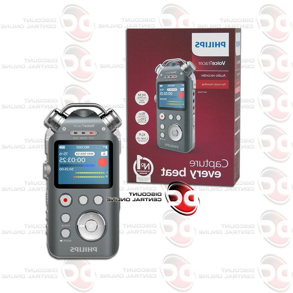 new dvt7500 voicetracer audio recorder with xlr