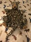NEW PLUSH LEOPARD EXTRA SMALL DOG BED STUFFED W/ REMOVABLE I