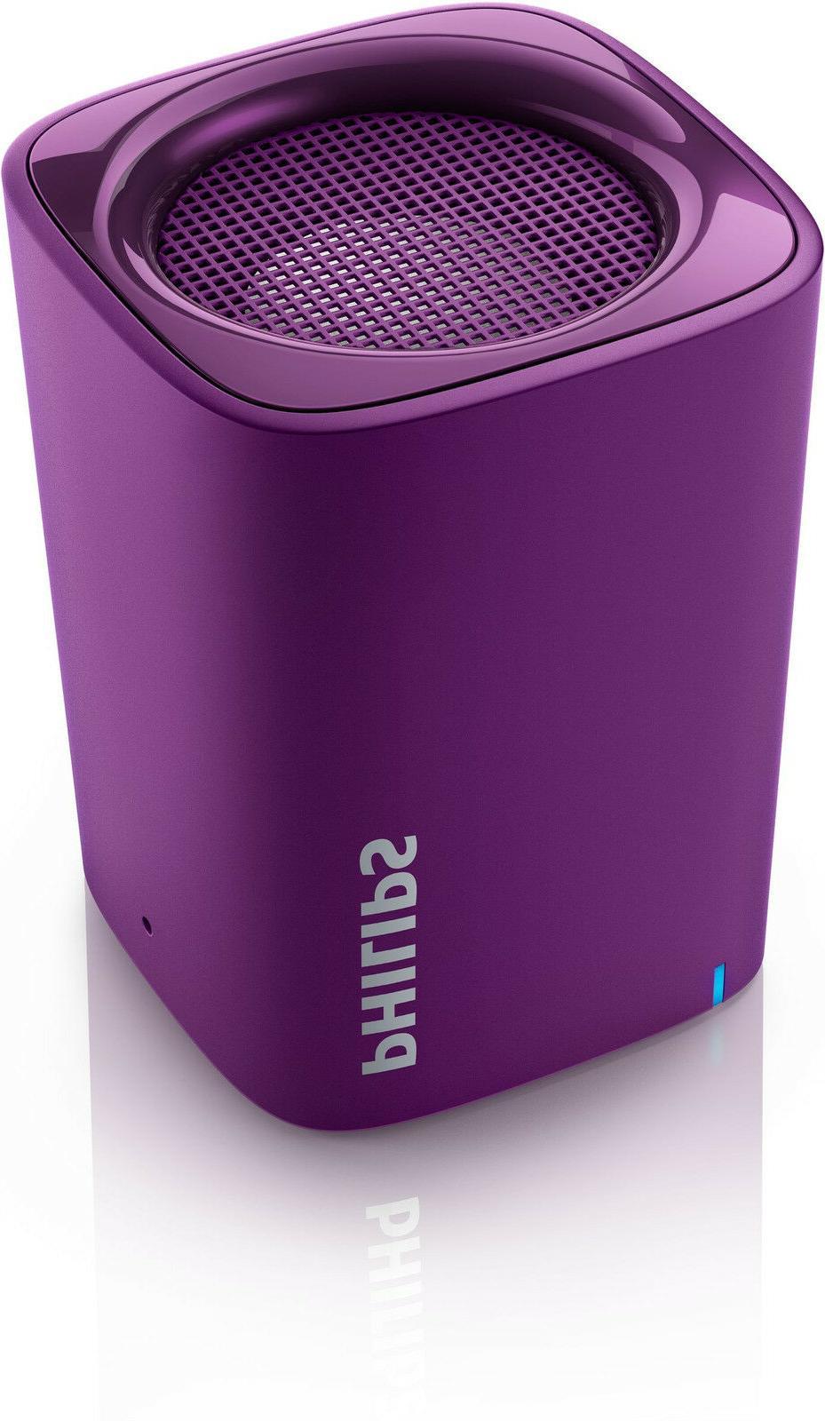 NEW PHILIPS  PURPLE BT100V/27 Wireless Mini Portable BLUETOO