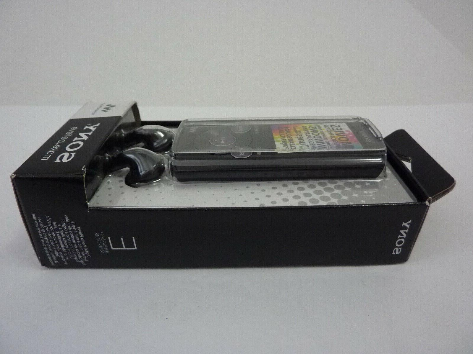 NEW - Sony NWZ-E384 MP3 Music Player Black 8GB SEALED