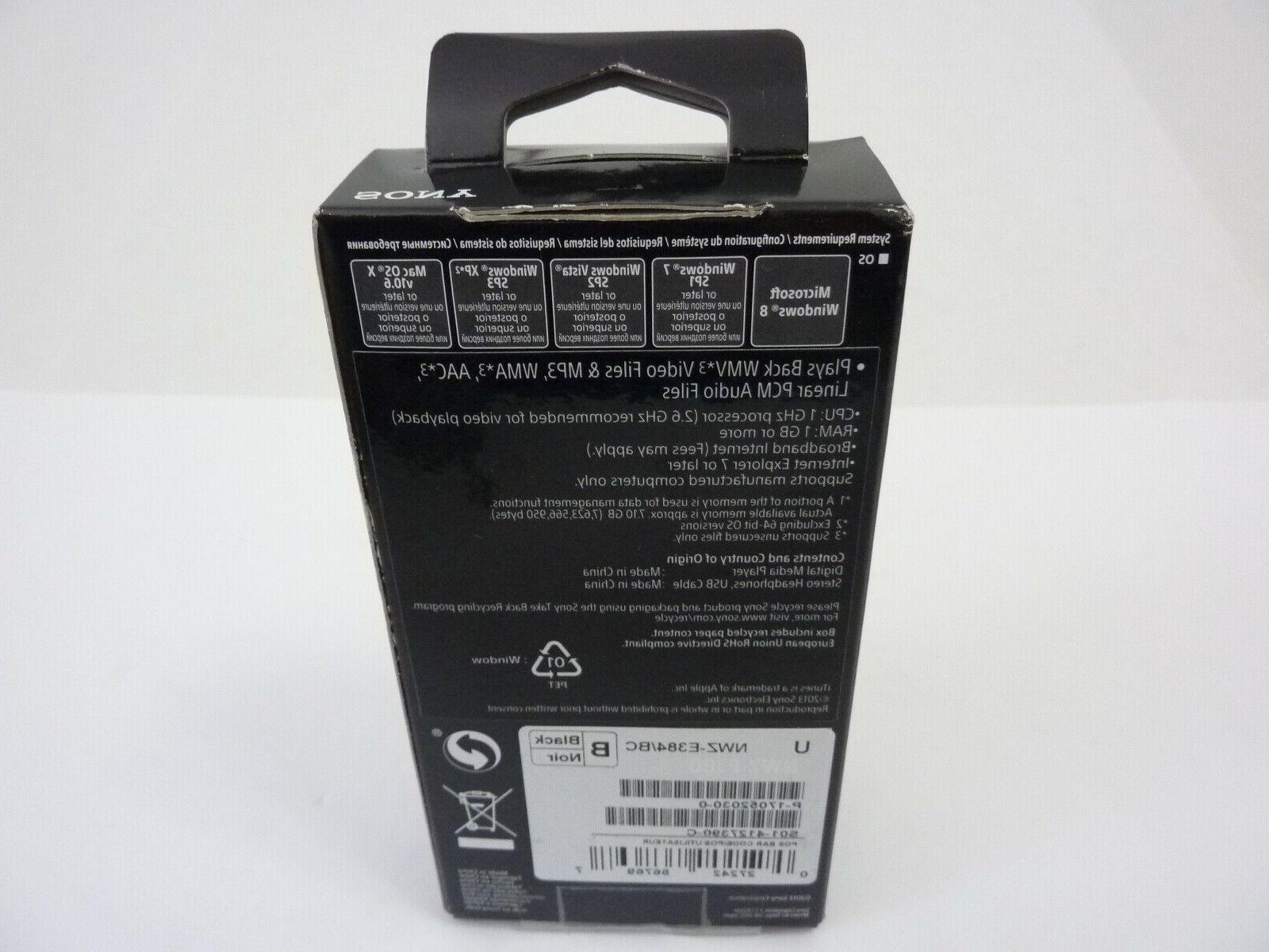 NEW - NWZ-E384 Portable Player 8GB