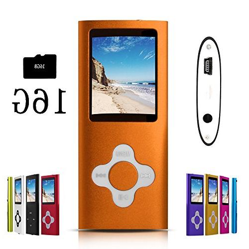 orange stylish mp3 mp4 player