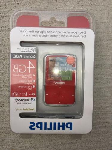 philips gogear 4gb digital media mp3 player