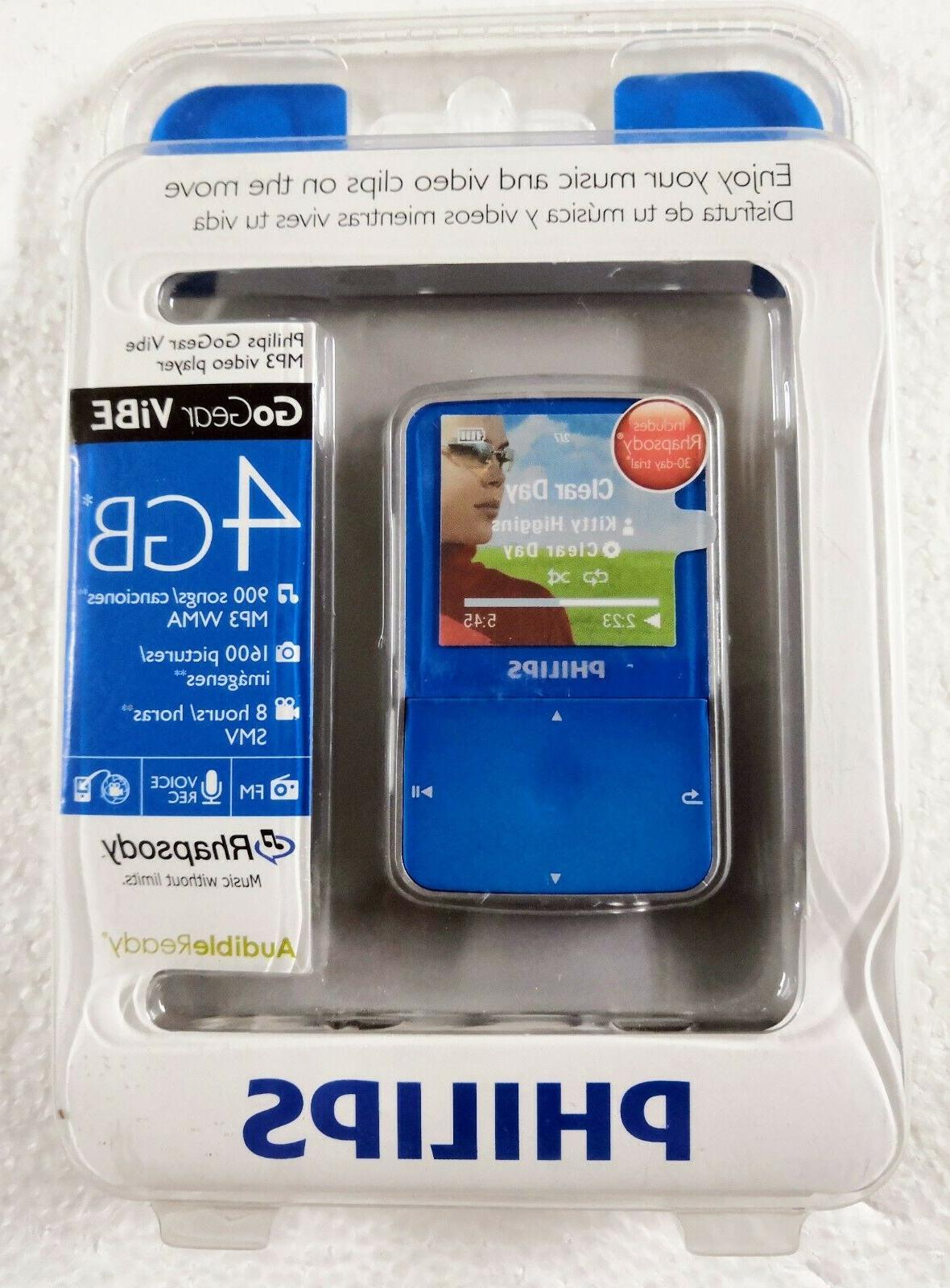 PHILIPS GOGEAR VIBE MP3 PLAYER Blue