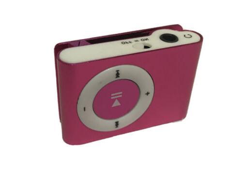 pink mini usb clip mp3 player compact