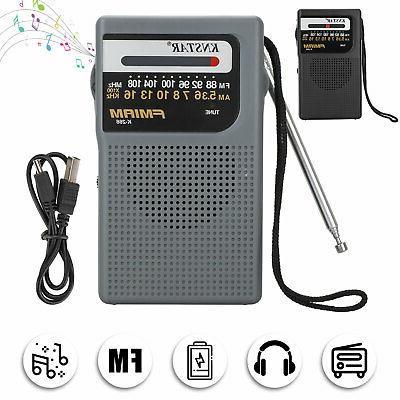portable am fm radio w pointer sound