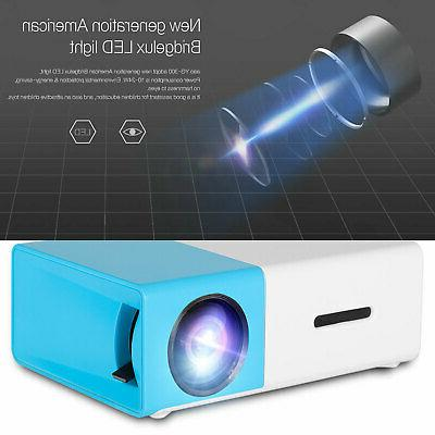 YG300 Home Cinema USB HDMI SD Mini Portable HD LED Projector