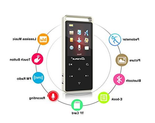 8GB Portable Bluetooth MP3 Recorder, Player with Up SD