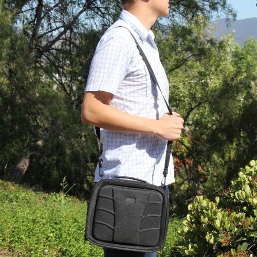USA GEAR Player Case Car Headrest Accessory Pockets Shoulder Scratch-Free Interior - Sylvania Inch Portable DVD/CD/MP3