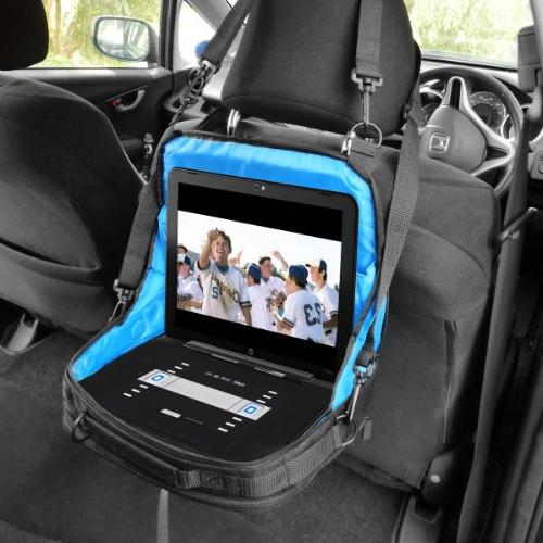USA GEAR Portable Player Carrying & Car Mount Accessory Adjustable Shoulder Strap Interior Works with Sylvania Inch Portable DVD/CD/MP3 Players