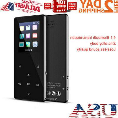 Portable MP3 Bluetooth Music Player Lossless Support up 128GB