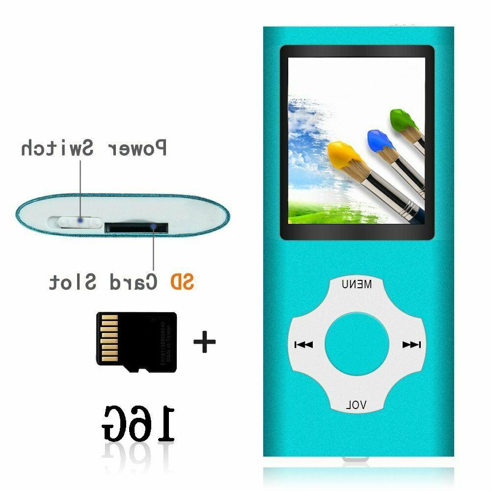 Tomameri Portable MP3/MP4 w/Rhombic Button,Includes 16GB SD