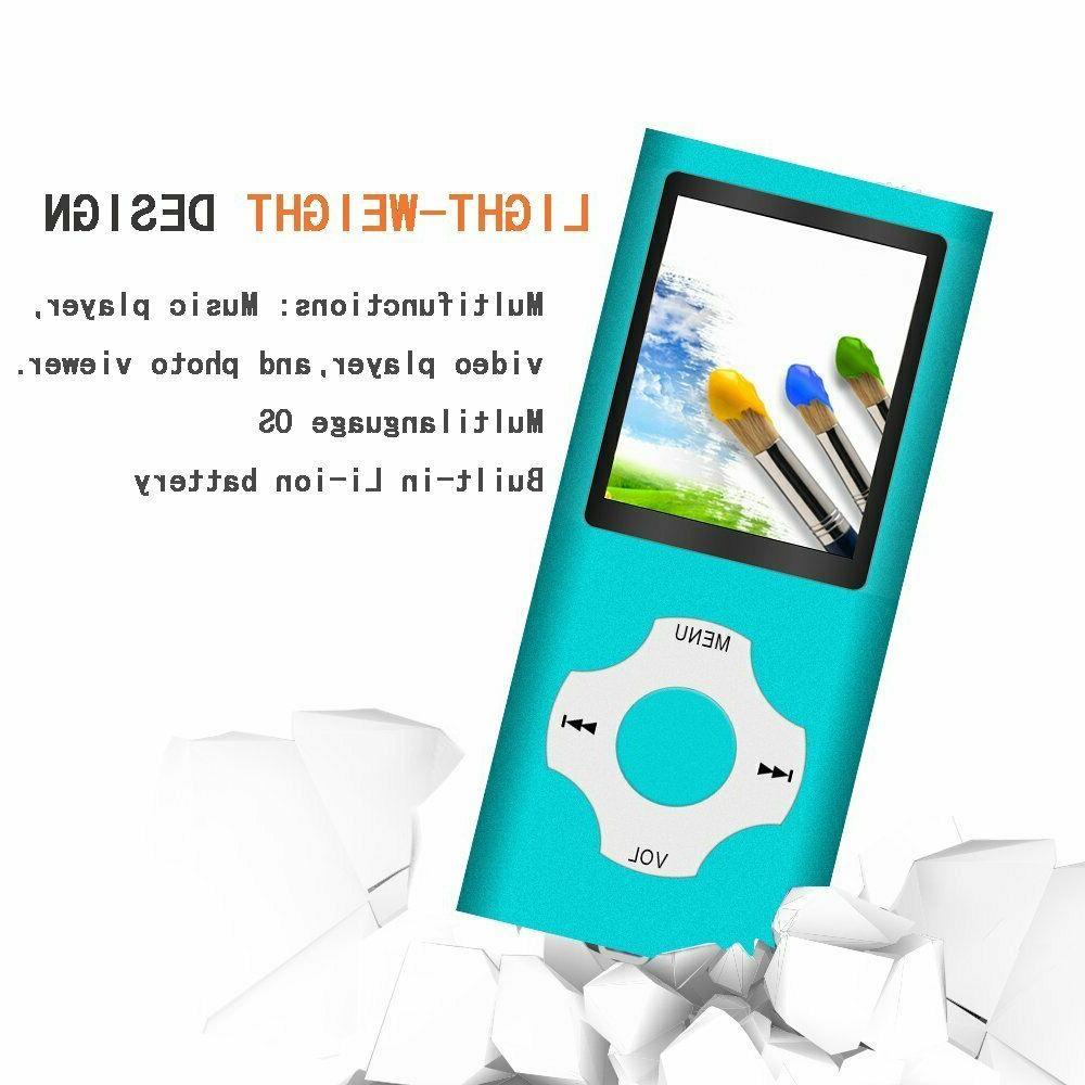 Tomameri Portable MP3/MP4 Player w/Rhombic a 16GB SD