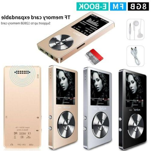"""M220 HIFI MP3 1.8"""" TFT 8GB Lossless Music Player FM Radio Vi"""