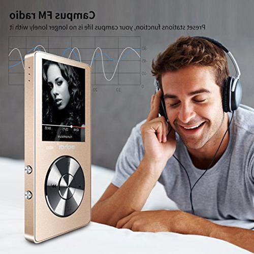 MYMAHDI 8GB Player, Music Voice Recorder/FM Radio Hours Playback HD Gold