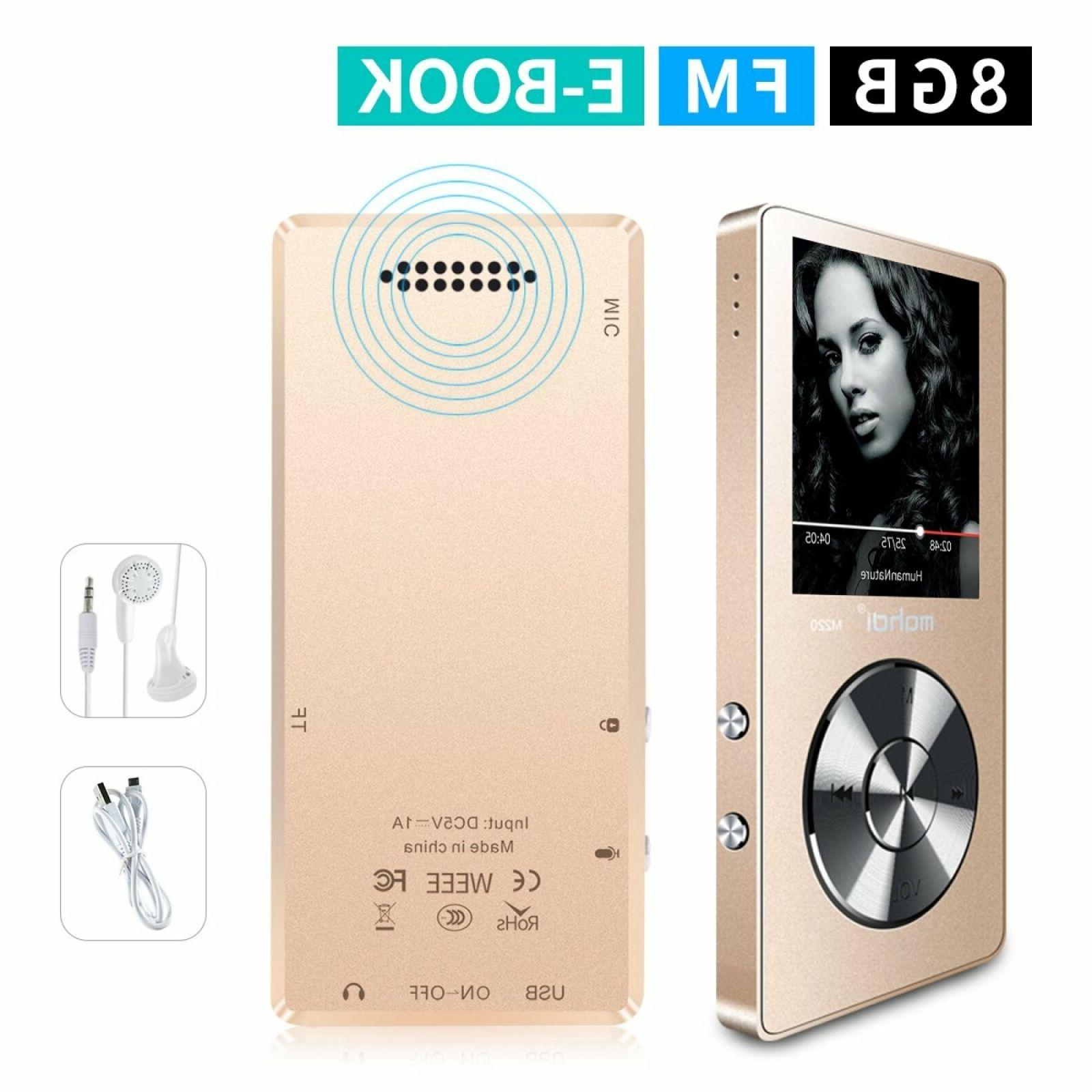 MYMAHDI Portable Player, Voice Recorder/FM Radio 70 Playback External Speaker HD Headphone,