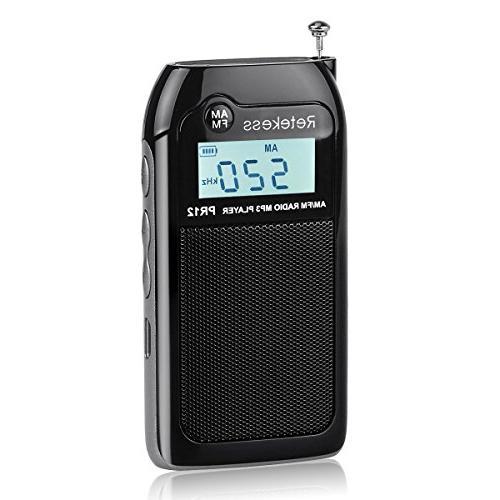 pr12 portable am fm radio