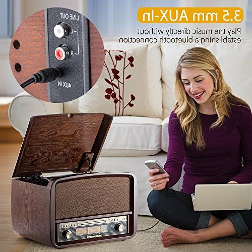 RCM Lp 6-in-1 Music with 3 Radio, Connection with Device, USB Built-in 10 Watts RMS