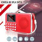 Slim LCD Digital FM/AM Radio MP3 Player MINI Speaker Bass AU