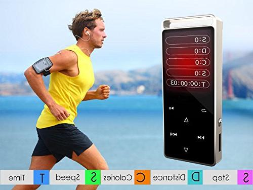 Eleston MP3 Player, Metal Body, Pedometer/ Radio/ Viewer