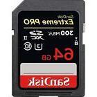 SanDisk Extreme PRO 64GB UHS-II SDXC Memory Card