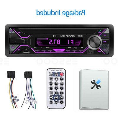 Car Stereo MP3 Player Bluetooth AUX FM Radio Handsfree