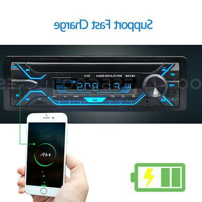 Car MP3 Player Bluetooth TF FM Radio Handsfree MIc