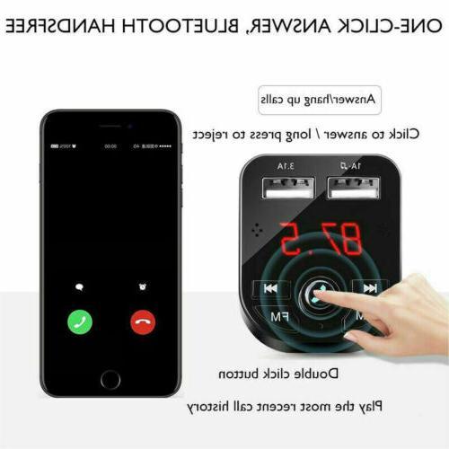 USA Bluetooth Car USB Charger Transmitter Radio